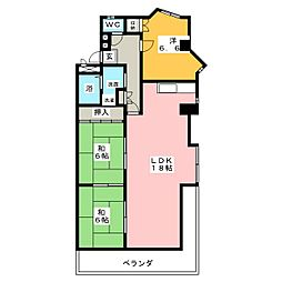 横川パークヒルズ[1階]の間取り