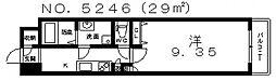 プライムタワー西今川[4階]の間取り