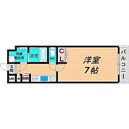 Osaka Metro長堀鶴見緑地線 今福鶴見駅 徒歩3分の賃貸マンション 4階1Kの間取り