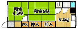 兵庫県神戸市西区王塚台1丁目の賃貸アパートの間取り