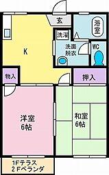 パークハイツ竜王[1階]の間取り