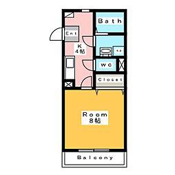 メゾン・ド・蔵の宿[2階]の間取り