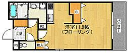 クラシオン箱崎松原 7階1Kの間取り