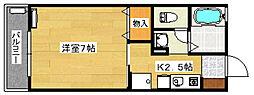 ソレーユ向田[2階]の間取り
