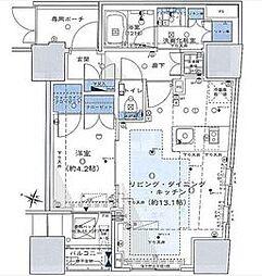東京都渋谷区渋谷1丁目の賃貸マンションの間取り