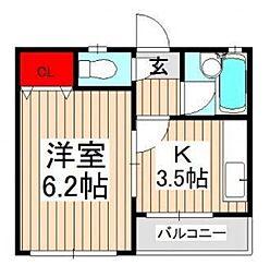 メゾン大竹B棟[2階]の間取り