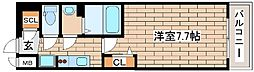 JR東海道・山陽本線 神戸駅 徒歩4分の賃貸マンション 8階1Kの間取り
