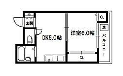 エクトI[6階]の間取り