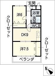 アーバンコートS1[2階]の間取り