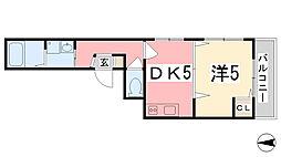 兵庫県姫路市総社本町の賃貸マンションの間取り