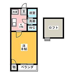 フォレスト志賀本通[1階]の間取り