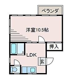 ツインアベニュー[2階]の間取り