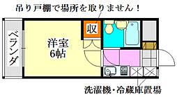 山京マンション[302号室]の間取り