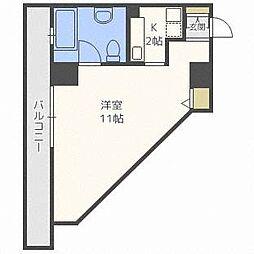 北海道札幌市中央区南六条西2丁目の賃貸マンションの間取り