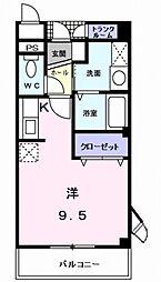 プチ・ソレール[3階]の間取り