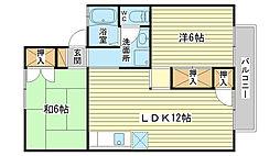 メゾン辻井[102号室]の間取り
