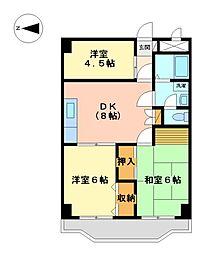 東京都武蔵野市境2丁目の賃貸マンションの間取り