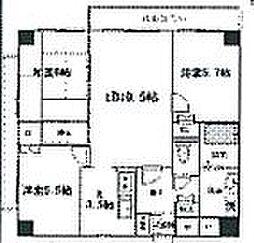 兵庫県姫路市網干区坂上の賃貸マンションの間取り