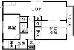 サンヒル岸和田C棟[202号室]の間取り