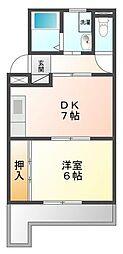 上嶋マンション[6階]の間取り
