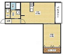 エリジオン[2階]の間取り