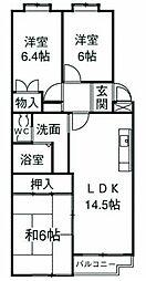 サンモール湘南[3階]の間取り