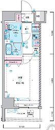 JR総武線 浅草橋駅 徒歩5分の賃貸マンション 11階1Kの間取り