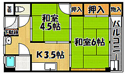 兵庫県明石市東藤江1丁目の賃貸マンションの間取り