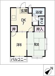 ハイツヤマサン[2階]の間取り