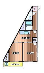 HUマンション[3階]の間取り