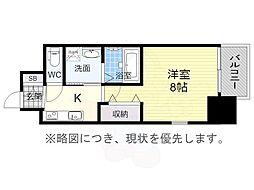 エステムコート名古屋今池アーバンゲート 15階1Kの間取り