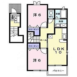 メゾン・エムII[2階]の間取り