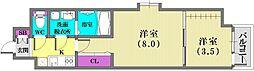 ユニバーサルビル・アネックス[12階]の間取り