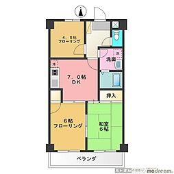 東京都武蔵野市桜堤1丁目の賃貸マンションの間取り