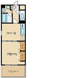 兵庫県尼崎市小中島3の賃貸マンションの間取り