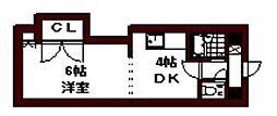 エンドレス三井南5条I[00802号室]の間取り