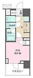 ザ・パークハウス浅草橋タワーレジデンス 5階1Kの間取り