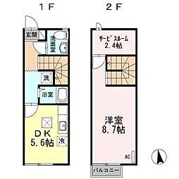 [テラスハウス] 香川県高松市春日町 の賃貸【/】の間取り