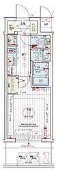 Osaka Metro千日前線 阿波座駅 徒歩5分の賃貸マンション 2階1Kの間取り