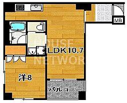 リーガル京都二条城東[401号室号室]の間取り