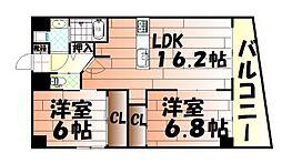 ヒット小倉[12階]の間取り