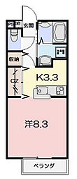 P-Allegiance B棟[B106号室]の間取り