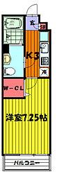 埼玉県草加市氷川町の賃貸マンションの間取り
