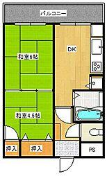 ローズマンション山王[7階]の間取り