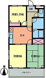 丸山後関マンション[3階]の間取り