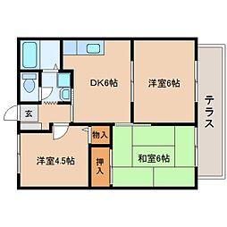 静岡県焼津市一色の賃貸アパートの間取り