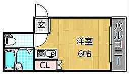 Mebius Kouri Residence - メビウスコ[4階]の間取り