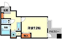 Osaka Metro谷町線 太子橋今市駅 徒歩2分の賃貸マンション 5階1Kの間取り