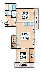 KTコスモ[4階]の間取り