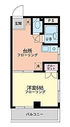 神奈川県横浜市都筑区池辺町の賃貸マンションの間取り